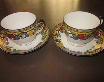 Vintage Adderleys set of 2 cups and saucers Pomona pattern 693705