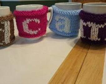 Monogram Coffee Cozies