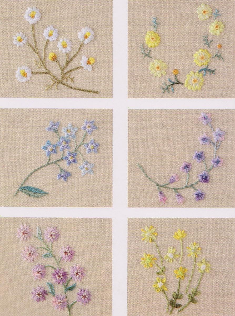 PDF Pattern Tutorial Hand Embroidery Stitch My Garden 005