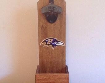 Wall Mounted Bottle Opener - Baltimore Ravens