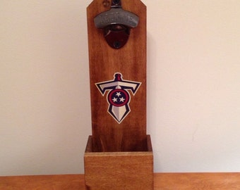 Wall Mounted Bottle Opener - Tennessee Titans