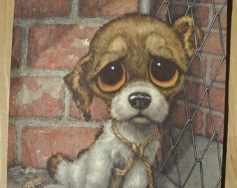 Big Eye Sad Puppy print