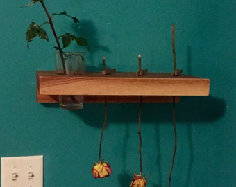 Hickory Shelf for Drying and Holding Roses
