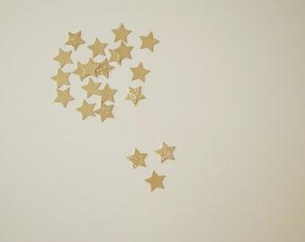50 Star Confetti Gold&GlitterGold