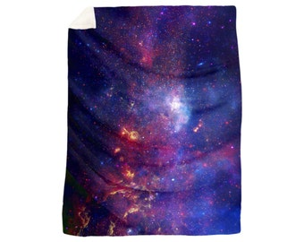 Ultra Soft Milky Way Galaxy Plush Velveteen Throw Blanket - Softer than Fleece! Home Decor