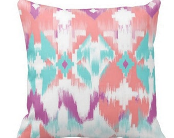 Rose Quartz Ikat Pillow