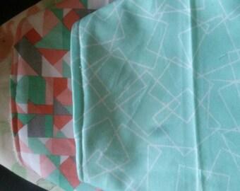 Bandana baby bib pastel colours