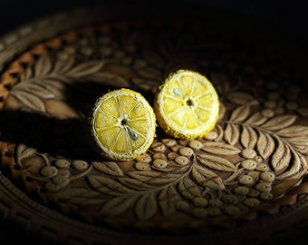 earrings lemon