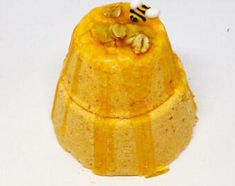 Wildflower Honey Bath Bomb Falling Water Soap Company, Handmade Homemade Soap, Bath Fizzie, Bath Fizzy, Bath Fizz Fiz