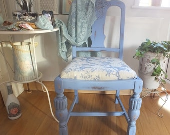 Renovated light pastel blue chair