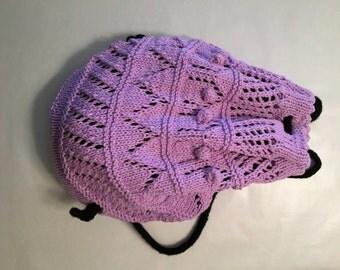 Handmade Purple Backpack