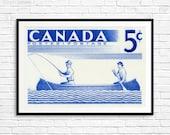 Fine art print: Fishing art, cottage decor, fishing boat, fishermen, gifts for fishermen, canoes, great lakes, canoe paddles, fishing prints