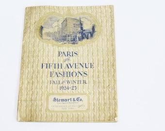 Paris and Fifth Avenue Fashions Fall and Winter 1924-1925 Stewart & Co New York Catalog Flapper Fashion Ephemera