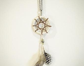 Handmade Dreamcatcher Silver Necklace