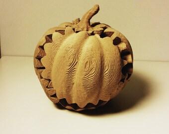 wooden geared pumpkin- 3d printed