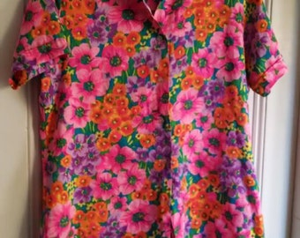 Vintage Electric Floral Blouse!~