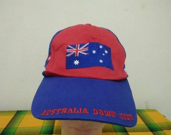 Rare Vintage AUSTRALIA DOWN UNDER | Australia Flag cap hat one size fit all