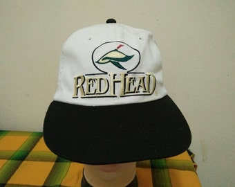 Rare Vintage BASS PRO SHOPS | Red Head Cap Hat Free size fit all