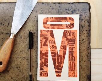 Quaderno Letterpress: M / M Letterpress Notebook