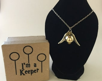 Harry Potter Snitch Necklace with Box