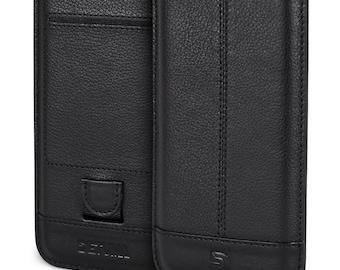 Apple iPhone iPhone 6s plus case, 6 plus cover leather, natural leather pouch case cover pouch - DETUMA® Yahya vintage black