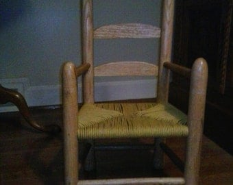 Hand made Red Oak Chair