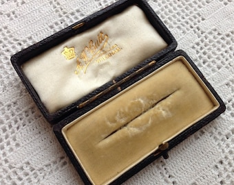 Antique Vintage Brooch Pin Box Wrexham Butt Jewellery Jewelry Case