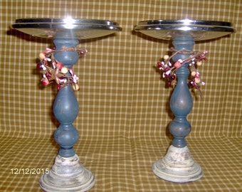 recycled candle holder set