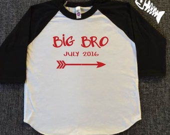 Big Brother Shirt, Big Bro, Brother Shirt, Newborn Baby, Baby Shower