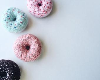 Hand knit donuts
