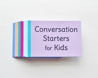 Conversation Starters for Kids // Positive Parenting // Encourage Gratitude, Kindness, Positivity, and Self Esteem // Instant Download