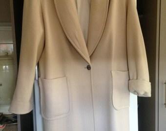 Perri Cutten, pure wool, long overcoat jackey, size XL