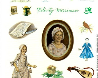 FELICITY HALLMARK STICKERS / Retired 2001 / American Girl /. Pictures From First Books