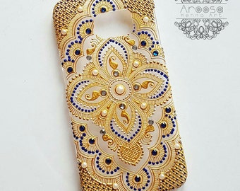 Henna patterned phone case
