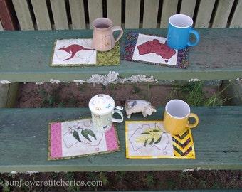 Aussie Mug Rugs - set of 4