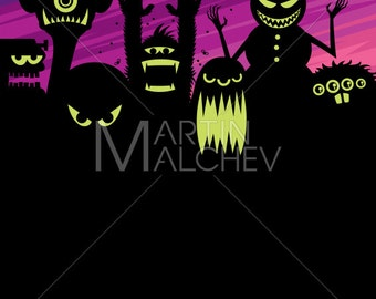 Monsters Background