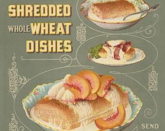 1899 Shredded Wheat Color Ad Page: Natural Food Company, Niagara Falls, New York