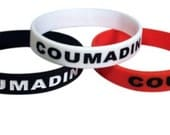 Coumadin ID Bracelet Silicone Medical Alert Blood Thinner Warfarin(Set of 3)