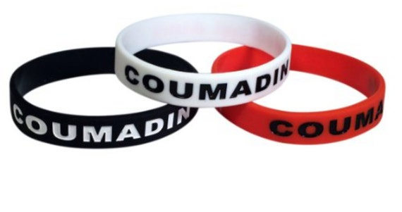 Coumadin Id Bracelet Silicone Medical Alert Blood Thinner