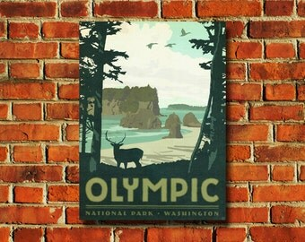 Olympic National Park Poster - #790