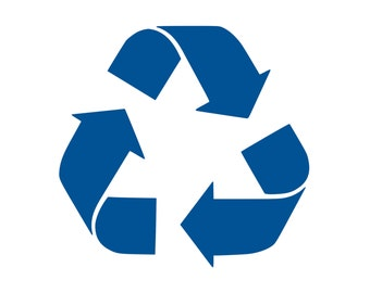 Recycle Decal Recycle Sticker Recycle Symbol Outdoor Vinyl Custom Sticker Recycle Stamp Reuse Reduce Recycle Sign Please Recycle D1101
