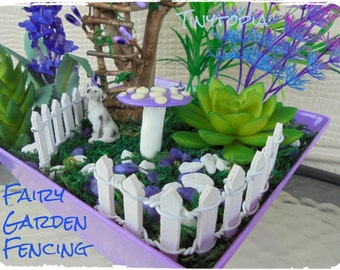 Miniature Fairy Garden Fencing