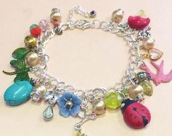 The Ladybird Garden Charm Bracelet