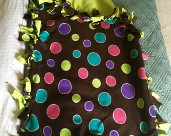 Polka dot fleece blanket