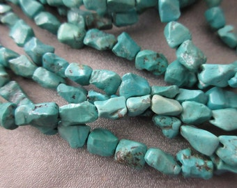 Turquoise Nuggets Beads 50pcs
