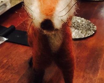 Handmade needle felted fox