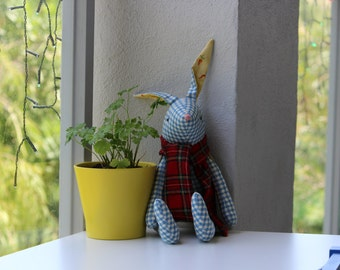 Cute chequered bunny