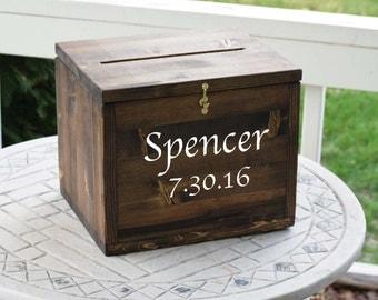 Wedding Card Box Large Rustic Cards Locking