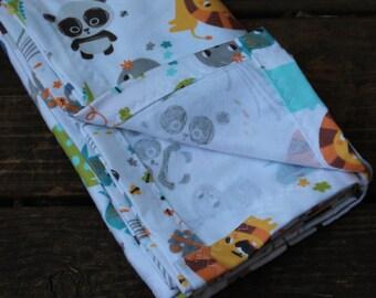 Zoo Animal Baby/Receiving Blanket