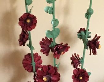 """Stalks of """"hollyhock"""" flowers"""